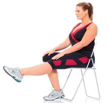 بالا بردن پا در حالت نشسته